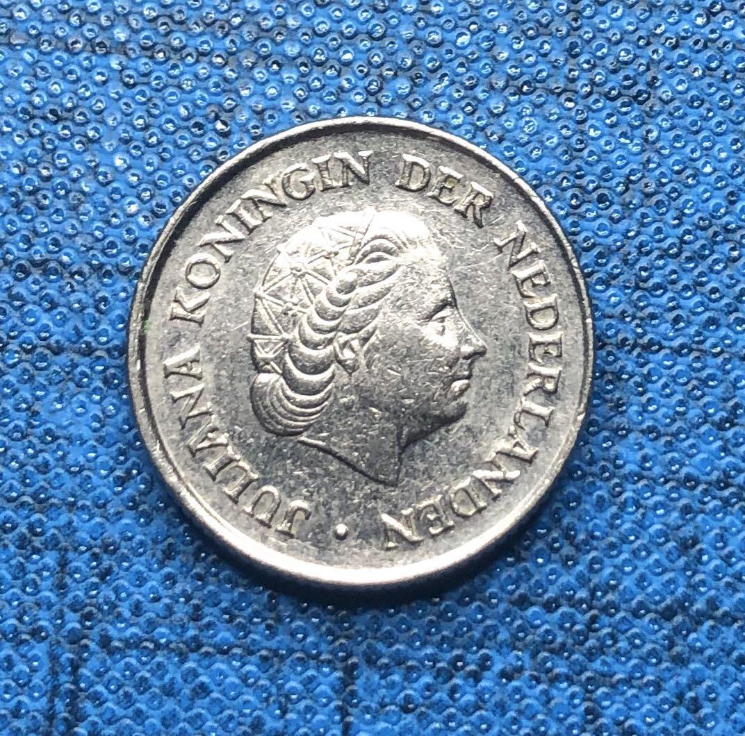 World Coins- Netherlands 25 Cents 1973 #53