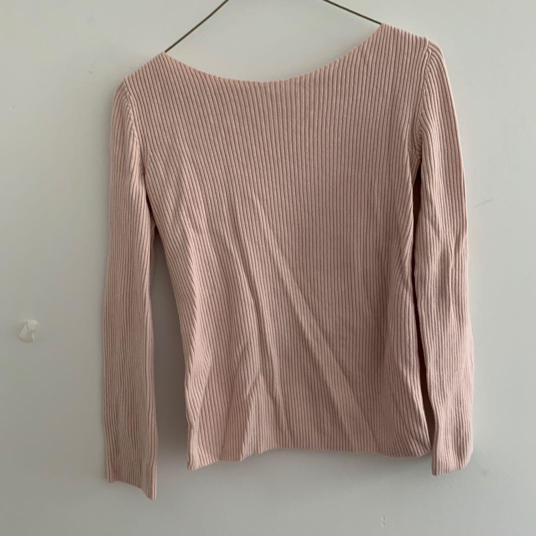XXS Aritzia Babaton open back sweater in light pink