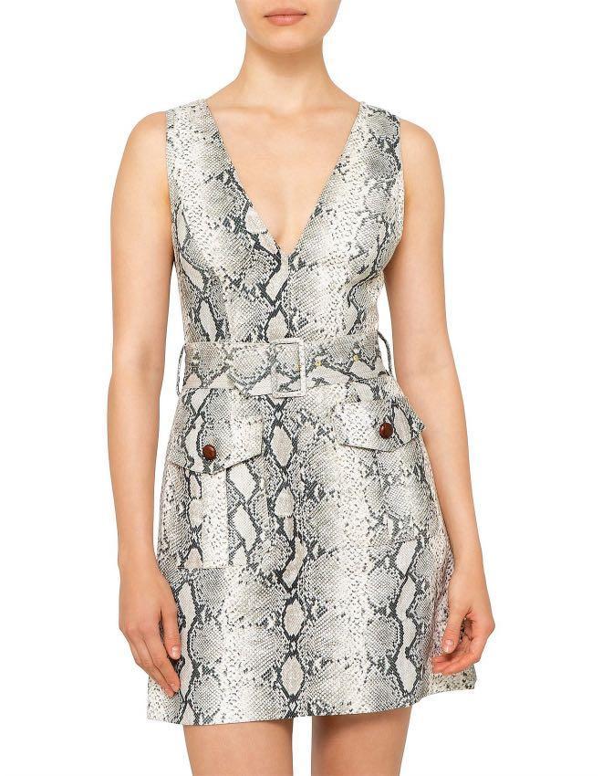 Zimmermann Corsage Safari Dress (Snake skin print) RRP $595