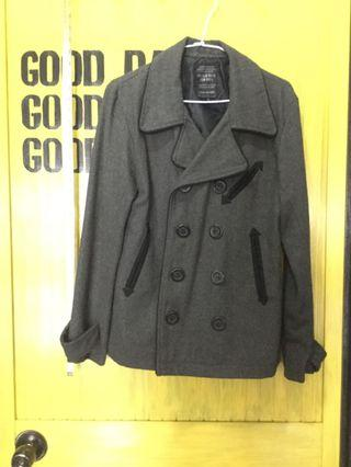 M size Woolen coat-JAPAN NICOLE CLUB-gray morning