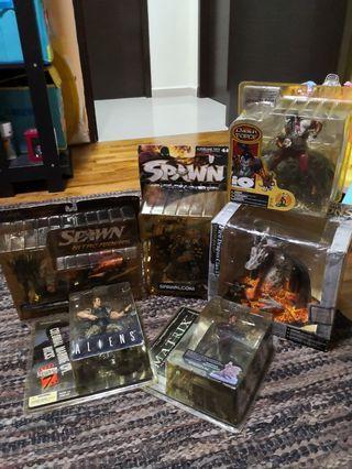 Mcfarlane Spawn Nitro Rider cyber force fire dragon matrix niobe aliens set of 6