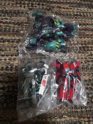 Transformers prime animated movie set of 3