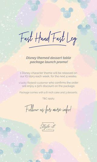 50% Off Disney Theme Dessert Table