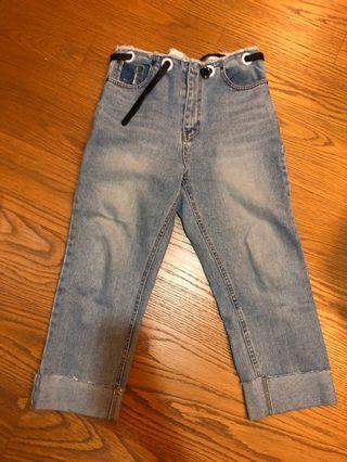 正韓褲頭造型牛仔褲