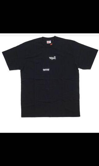 Supreme x CDG Split Box Logo Tee 聯名 切割 短袖T恤 男女 誠可議
