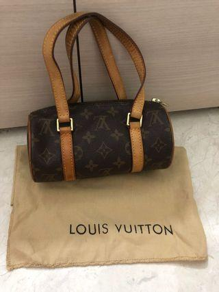 LOUIS VUITTON Monogram Canvas Papillon 19 Bag