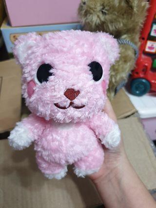 Teddy Bear Post Pet-Fluffy Pink