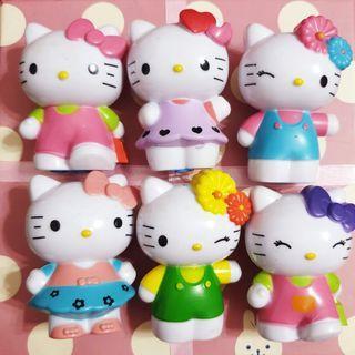 Hello Kitty Figurines Set of 6