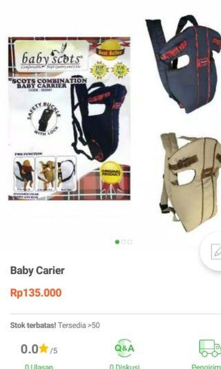 Gendongan Baby Scots combination babby carrier