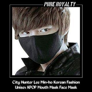City Hunter Lee Min-ho Korean Fashion Unisex KPOP Mouth Mask Face Mask