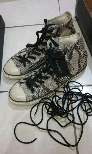 "Sepatu Converse John varvatos double zip ""snake skin"""
