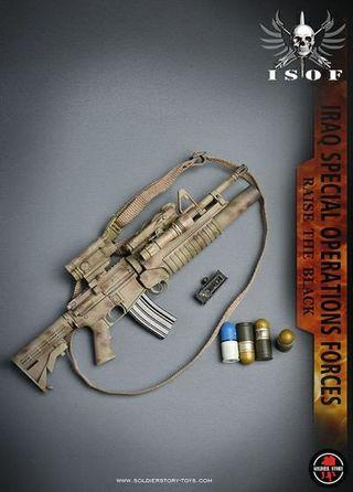 [STOCK] Soldier Story SS105 - Iraq Special Operations Forces ISOF - LAR-15 Rifle with M203 Launcher