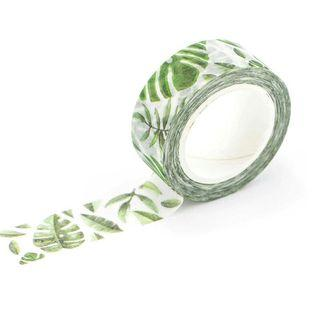 [PO] hibiscus nature leaves green washi tape