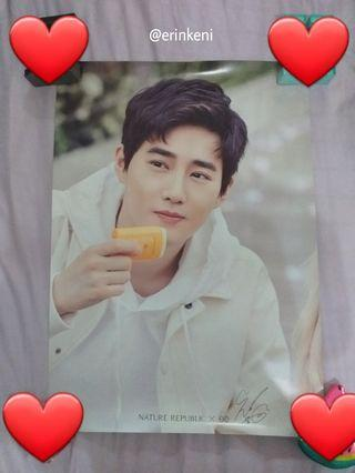 EXO SUHO NATURE REPUBLIC POSTER