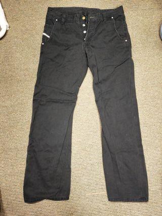 Diesel 黑色休閒長褲
