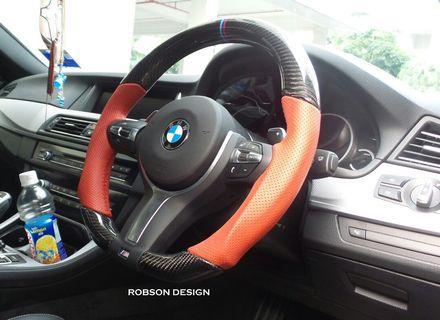 Bmw customized carbon fiber steering wheel