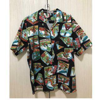 夏威夷風短袖襯衫寬鬆 L號