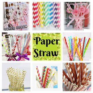 Party Paper Straw 25pcs per set (Save the world cute pretty)