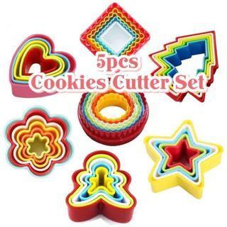 CC030 5pcs / 6pcs Food Grade Plastic Cookies Cutters Set with box (Local Seller DIY tools)