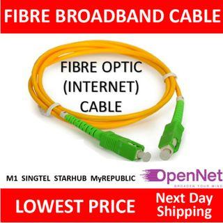 TCP010 Fiber Optic Cables Patch Cord (for any ISP that using Opennet connection) (Local SG Seller Sales)