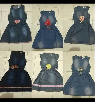 Demin Dress for 1 to 3yrs old girl