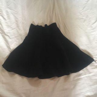 彈性超好 厚板傘裙 傘洋 黑色短裙 #五折清衣櫃