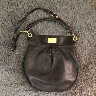 Preloved marc jacobs hobo black leather bag