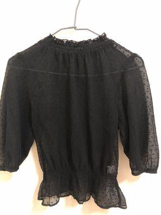 薄紗黑色上衣