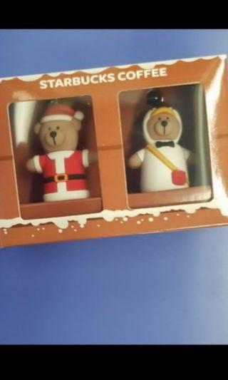 Starbucks bearista Christmas set mini bears