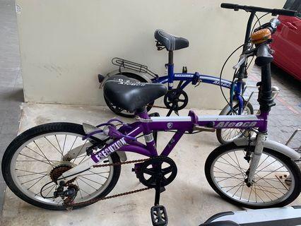 Purple Foldable Bicycle