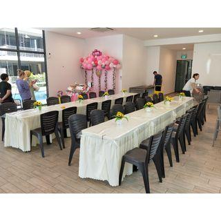[Rent] Tables and Chairs Rent Rental Cheap Deliver Setup Event Function Wedding Birthday Party Flee Market Roadshow Kenduri Buffet BBQ Barbecue Barbeque Rental Open House Celebration 37