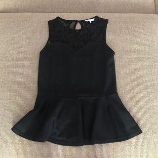 New Look - Black Peplum Top