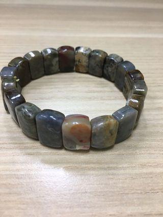 Blood Stone Crystal Bracelet血石水晶手镯