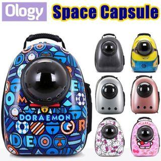 Puppy Carrier Pet Space Capsule Pets Dog Cat Luggage Bag Supplies  Gift Idea