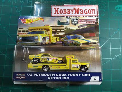 Team Transport 72 Plymouth Cuda Funnycar Retro Rig