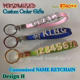 Customized Keychain leather key holder bag