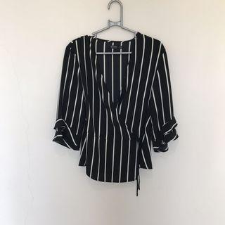 Bershka Kimono Blouse Top