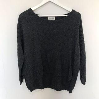 This is april Sweatshirt Knit Grey