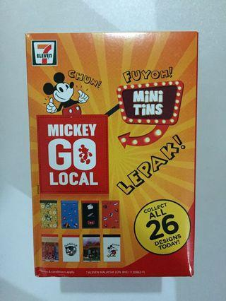 Disney Mickey Metal Designer Tin Can Sealed Unopened