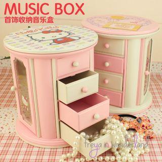 Hello Kitty  Music Box Musical Jewelry Box Gift