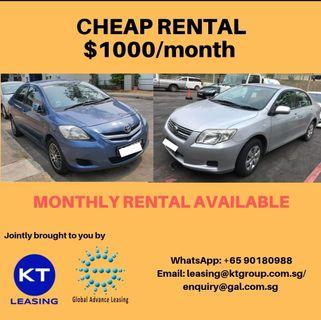 Cheap monthly car rental