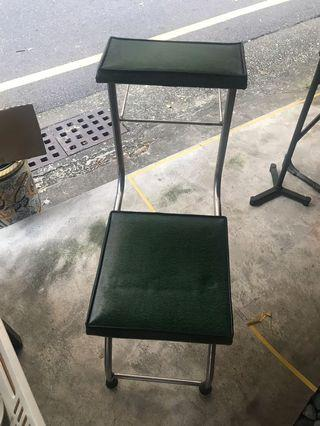 早期 診所 椅子/老式打針坐椅 工業風 懷舊老件 道具 綠皮