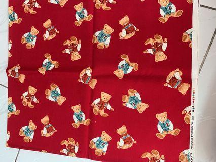 🔆日本製 泰迪熊 KOKKA 布料 尺寸:112*96公分(略大於三尺)