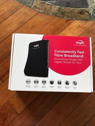 Singtel Gigabit AC Plus router  with 2.5A 12v output power adapter