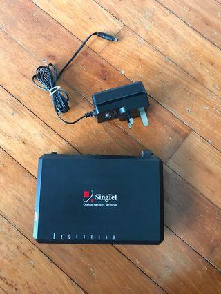 Singtel Optical Network Terminal with 12v 1Amp adaptor