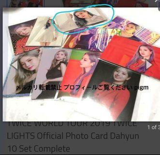 WTT ONLY: for missing Dahyun lights tour photo card