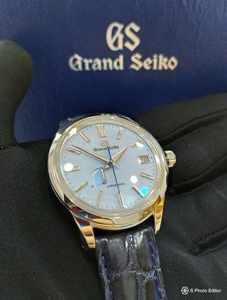 Brand New 100% Authentic Grand Seiko Blue Snowflake Men's Automatic Spring Drive Dress Watch SBGA407 SBGA407G