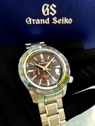 * LIMITED EDITION * Brand New 100% Authentic Grand Seiko GMT Spring Drive Red Dial Men's Sports Watch SBGE245 SBGE245G
