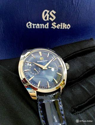* LIMITED EDITION * Brand New 100% Authentic Grand Seiko Manual Winding Blue Dial Men's Mechanical Dress Watch SBGK005 SBGK005G
