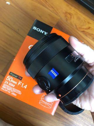 Sony SAL 50mm f1.4 Zeiss